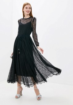 Платье, Lusio, цвет: черный. Артикул: LU018EWHDDW8.