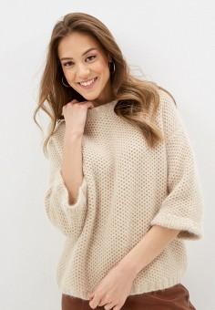 Джемпер, Lusio, цвет: бежевый. Артикул: LU018EWIGBL4. Одежда / Джемперы, свитеры и кардиганы / Джемперы и пуловеры / Джемперы