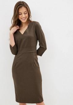 Платье, Lusio, цвет: хаки. Артикул: LU018EWIGBM4.