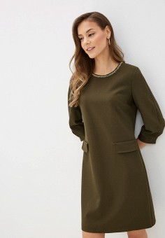 Платье, Lusio, цвет: хаки. Артикул: LU018EWIGBM8.