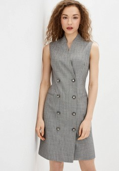 Платье, Lusio, цвет: серый. Артикул: LU018EWIXOL4.