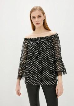 Блуза, Lusio, цвет: черный. Артикул: LU018EWJOCM1.