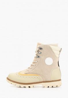 Ботинки, Luhta, цвет: бежевый. Артикул: LU692AMHDXW2. Обувь / Ботинки / Высокие ботинки