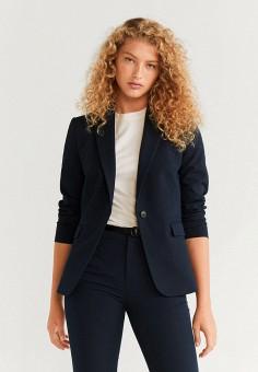 Пиджак, Mango, цвет: синий. Артикул: MA002EWHHEY0. Одежда / Пиджаки и костюмы