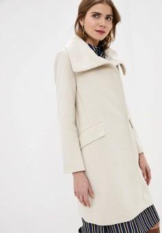 Пальто, Mango, цвет: бежевый. Артикул: MA002EWIEFJ7. Одежда / Верхняя одежда