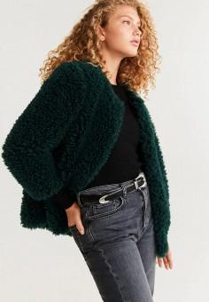 Шуба, Mango, цвет: зеленый. Артикул: MA002EWIEFP3. Одежда / Верхняя одежда / Шубы и дубленки