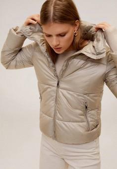 Куртка утепленная, Mango, цвет: серый. Артикул: MA002EWIEFX9.