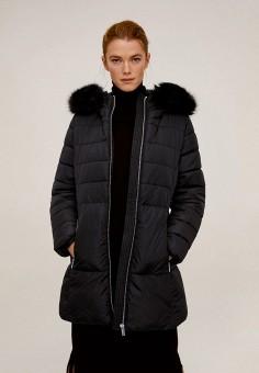 Куртка утепленная, Mango, цвет: черный. Артикул: MA002EWIEGA2. Одежда / Верхняя одежда
