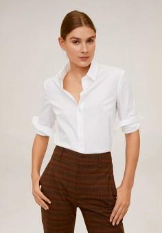 Рубашка, Mango, цвет: белый. Артикул: MA002EWIIKJ7. Одежда / Блузы и рубашки