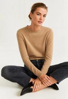 Джемпер, Mango, цвет: бежевый. Артикул: MA002EWIIKN5. Одежда / Джемперы, свитеры и кардиганы / Джемперы и пуловеры / Джемперы