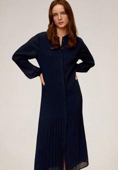 Платье, Mango, цвет: синий. Артикул: MA002EWIIOY4. Одежда / Платья и сарафаны