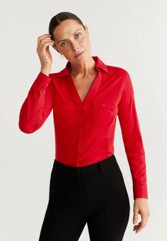 Рубашка, Mango, цвет: красный. Артикул: MA002EWIIPC1. Одежда / Блузы и рубашки