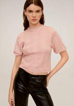 Джемпер, Mango, цвет: розовый. Артикул: MA002EWIIPF3. Одежда / Джемперы, свитеры и кардиганы / Джемперы и пуловеры