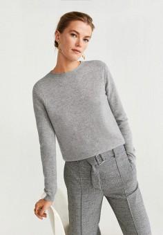 Джемпер, Mango, цвет: серый. Артикул: MA002EWIIPJ2. Одежда / Джемперы, свитеры и кардиганы / Джемперы и пуловеры / Джемперы
