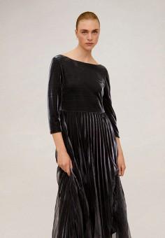 Платье, Mango, цвет: черный. Артикул: MA002EWIIQC2. Одежда / Платья и сарафаны / Вечерние платья