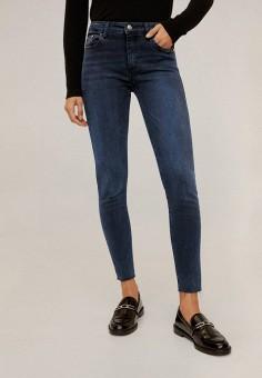 Джинсы, Mango, цвет: синий. Артикул: MA002EWIIQS1. Одежда / Джинсы / Узкие джинсы