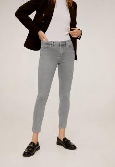 Джинсы, Mango, цвет: серый. Артикул: MA002EWIIQT2. Одежда / Джинсы / Узкие джинсы