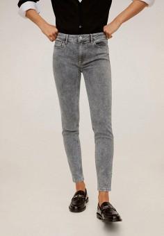 Джинсы, Mango, цвет: серый. Артикул: MA002EWIIQT3. Одежда / Джинсы / Узкие джинсы