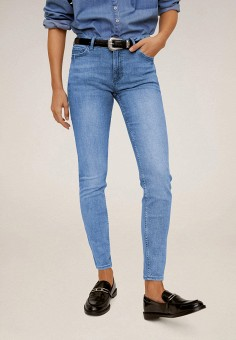 Джинсы, Mango, цвет: синий. Артикул: MA002EWIIQU7. Одежда / Джинсы / Узкие джинсы