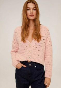 Кардиган, Mango, цвет: розовый. Артикул: MA002EWIIRA9. Одежда / Джемперы, свитеры и кардиганы / Кардиганы
