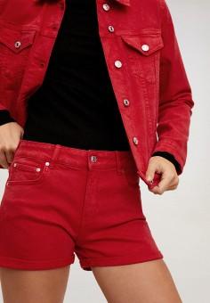 Шорты, Mango, цвет: красный. Артикул: MA002EWIJMW2. Одежда / Шорты