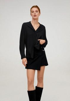Блуза, Mango, цвет: черный. Артикул: MA002EWIJND6.