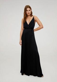Платье, Mango, цвет: черный. Артикул: MA002EWIJNF3. Одежда / Платья и сарафаны / Вечерние платья