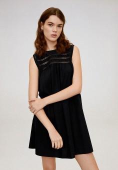 Платье, Mango, цвет: черный. Артикул: MA002EWIJNI4.