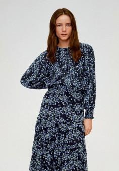 Блуза, Mango, цвет: черный. Артикул: MA002EWIJNL3. Одежда / Блузы и рубашки / Блузы