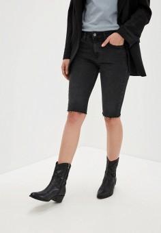 Шорты джинсовые, Mango, цвет: черный. Артикул: MA002EWIJNR5. Одежда / Шорты