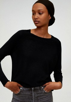 Джемпер, Mango, цвет: черный. Артикул: MA002EWIKYA1. Одежда / Джемперы, свитеры и кардиганы / Джемперы и пуловеры