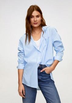 Рубашка, Mango, цвет: голубой. Артикул: MA002EWINCE3. Одежда / Блузы и рубашки / Рубашки