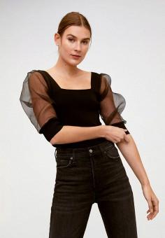 Джемпер, Mango, цвет: черный. Артикул: MA002EWINDG5. Одежда / Джемперы, свитеры и кардиганы / Джемперы и пуловеры