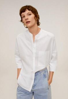 Рубашка, Mango, цвет: белый. Артикул: MA002EWIPRA7. Одежда / Блузы и рубашки