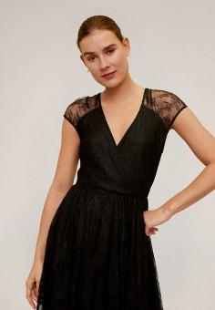 Платье, Mango, цвет: черный. Артикул: MA002EWIPXO2. Одежда / Платья и сарафаны / Вечерние платья