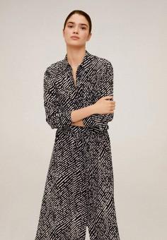 Платье, Mango, цвет: черный. Артикул: MA002EWIPXO5.