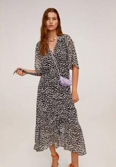 Платье, Mango, цвет: черный. Артикул: MA002EWIPXO7. Одежда / Платья и сарафаны