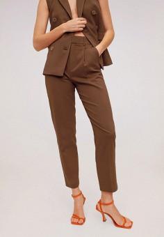Брюки, Mango, цвет: коричневый. Артикул: MA002EWIRKS3. Одежда / Брюки / Классические брюки