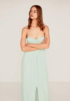 Платье, Mango, цвет: бирюзовый. Артикул: MA002EWIRKW5. Одежда / Платья и сарафаны / Вечерние платья