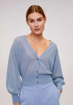 Кардиган, Mango, цвет: голубой. Артикул: MA002EWIRLA5. Одежда / Джемперы, свитеры и кардиганы / Кардиганы