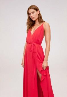 Платье, Mango, цвет: розовый. Артикул: MA002EWIRLS4. Одежда / Платья и сарафаны / Вечерние платья