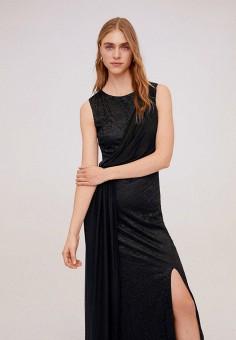 Платье, Mango, цвет: черный. Артикул: MA002EWIRME8. Одежда / Платья и сарафаны / Вечерние платья