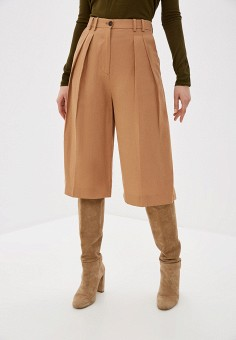 Шорты, Mango, цвет: коричневый. Артикул: MA002EWISEL0. Одежда / Шорты