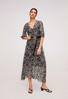 Платье, Mango, цвет: мультиколор. Артикул: MA002EWITMS0. Одежда / Платья и сарафаны