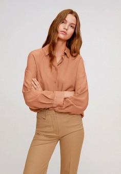 Рубашка, Mango, цвет: коричневый. Артикул: MA002EWIWPB1.