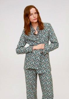 Жакет, Mango, цвет: зеленый. Артикул: MA002EWIWPD8. Одежда / Пиджаки и костюмы