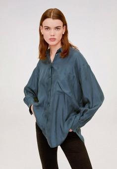 Рубашка, Mango, цвет: синий. Артикул: MA002EWIWPE0. Одежда / Блузы и рубашки / Рубашки