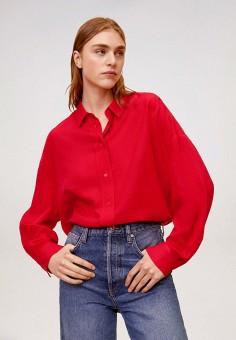 Рубашка, Mango, цвет: красный. Артикул: MA002EWIWPH1. Одежда / Блузы и рубашки / Рубашки