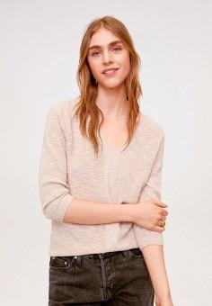 Пуловер, Mango, цвет: розовый. Артикул: MA002EWIWPY7. Одежда / Джемперы, свитеры и кардиганы / Джемперы и пуловеры