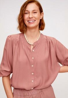 Блуза, Mango, цвет: розовый. Артикул: MA002EWIWUU4.